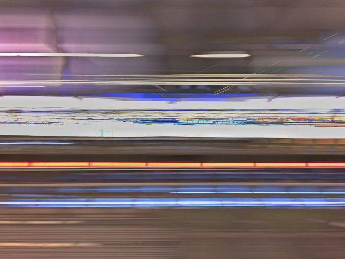 Station Speed 02 Illuminated Technology Futuristic No People Indoors  Close-up Horizontal Day Architecture Pattern Backgrounds Textured  Abstract Lights NightCapPro Nightphotography Star Trail Modus ArtWork Artsy Iphonephotography Blurred Motion Indoors  Dark