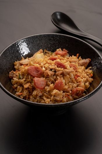 Fried Rice Fried Rice - Food Staple Minced Meat Meats Lean Meat Chinese Food Asian Foods Asian Food Culture Food Food And Drink Kitchen Utensil Bowl Freshness Indoors  Healthy Eating No People Still Life Wellbeing Close-up Ready-to-eat Eating Utensil Serving Size Spoon Meat Fruit Meal