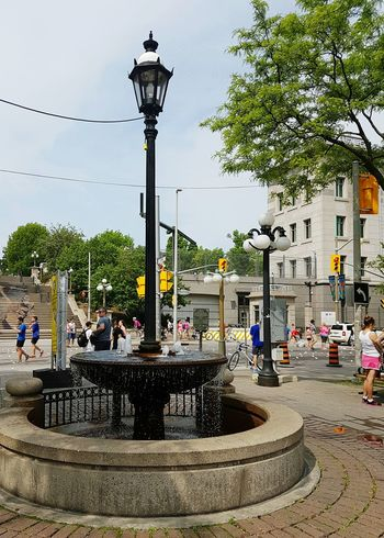 "Built in the 1890s, as a Drinking Fountain with a gas Lamp Post (now Electric Lamp) http://www.waymarking.com/waymarks/WMF35R_The_York_Street_Millennium_Fountain_Ottawa_Ontario ... for Lots Of People it's ""just"" a Fountain with Local History but only once you read its plaque. 