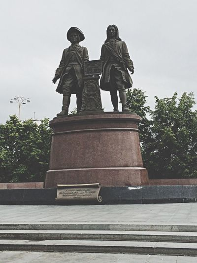 Statue of G. W. de Gennin and V. N. Tatishchev Russia Yekaterinburg Monuments Statue