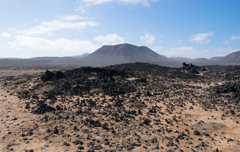 North of Fuerteventura EyeEm Best Shots EyeEm Nature Lover Nature Rock Beauty In Nature Black Blue Cloud - Sky Day Enjoying Life Landscape Mountain Nature No People Outdoors Physical Geography Rock - Object Scenics Sky Tranquil Scene Tranquility Volcanic Landscape Volcano