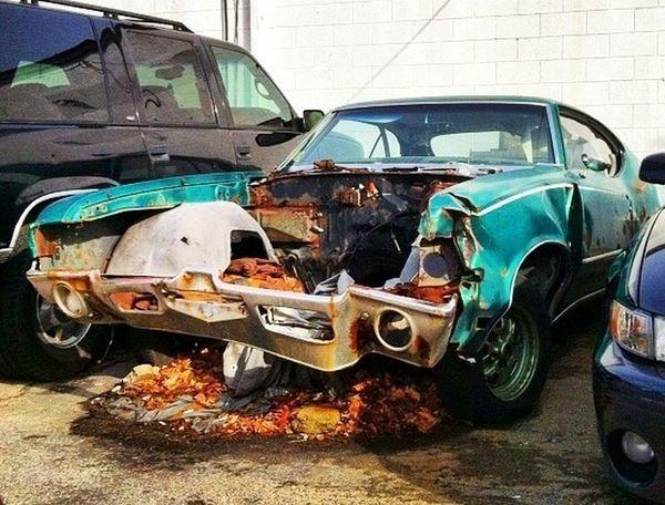 Poor cutlass... Car Muscle Cars Oldsmobile Cutlass