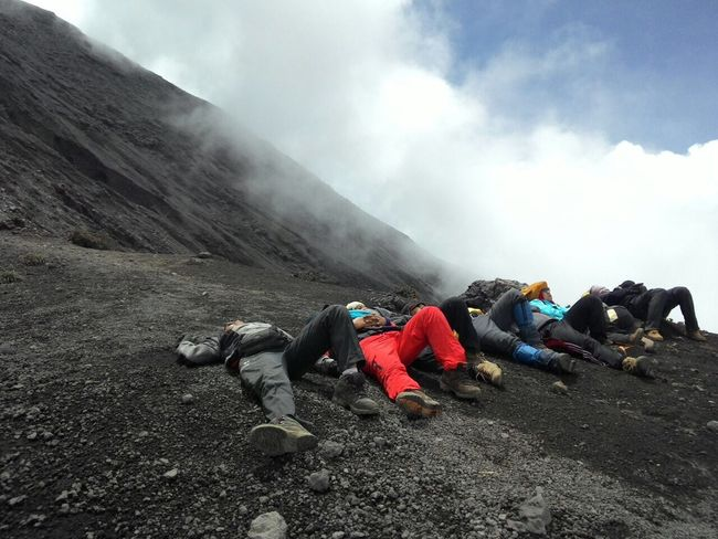 Feel The Journey and take a Nap to get the energy back after summit of Kerincimount at 3805 Masl 3rd Highest Mountain of INDONESIA