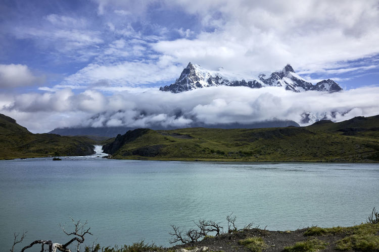 Turquoise Lake and Torres del Paine Mountain Peaks Chile Cordillera Paine National Park Collection Beauty In Nature Famous Place No People Outdoors Patagonia Sky South America Torres Del Paine Tranquil Scene Travel Desitnations