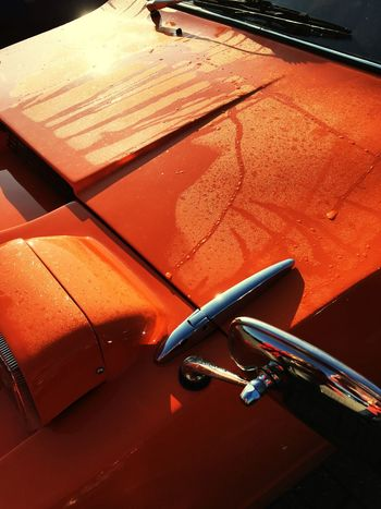 Transportation Mode Of Transport High Angle View Land Vehicle No People Car Outdoors Day Orange Color Car Parts Condensation Moisture Paintwork Abstract I Dont Know Why I Just Like This Picture when you really like a photo but you don't know why! 👈🏻that, lol