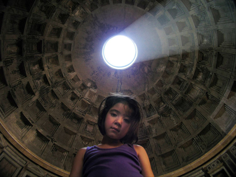 Jetlagged in the Pantheon. Arch Architectural Feature Architecture Built Structure Cathedral Ceiling Composition Culture Dome Historic History Indoors  Jetlag Light Low Angle View Ornate Pantheon Perspective Place Of Worship Religion Spirituality The Tourist