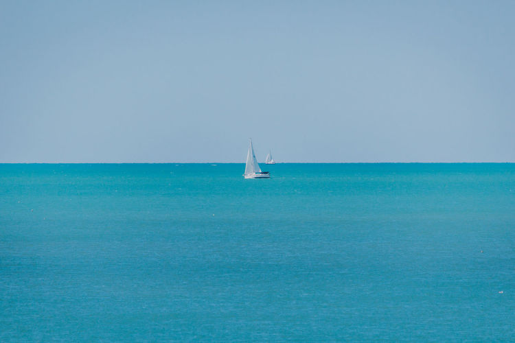 Beauty In Nature Blue Clear Sky Day Horizon Over Water Nature Nautical Vessel No People Outdoors Sailboat Sailing Sailing Ship Scenics Sea Sky Tranquil Scene Tranquility Travel Destinations Vacations Water Yacht Yachting