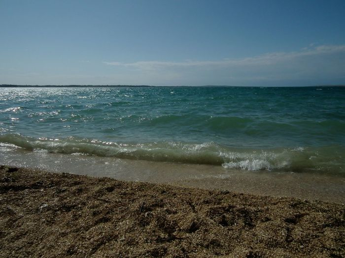 Beach Csillogás Gleam Napfeny Sand Sea Seascape Seaside Sunshine Water Waves Landscapes With WhiteWall