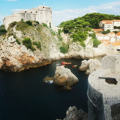Outdoors No People Sky Building Exterior Croatia Dubrovnik Tranquility Landscape Travel Coastline Idyllic Water Travelphotography Cloud - Sky France Sea Day Travel Destinations City