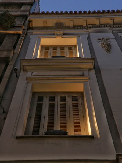 Architecture Architecture_collection Architectural Detail Windows Underlights Night Lights Early Morning Athens, Greece Athens Streetphotography