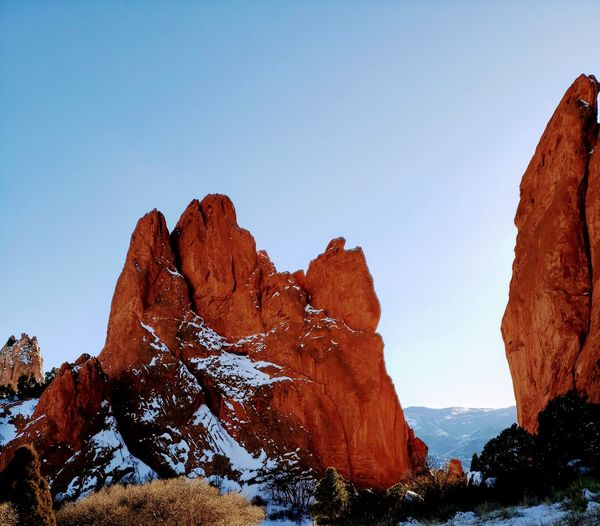 Garden of the GODS Garden Of The Gods Eyeemphotography Mountain Clear Sky Desert Red Blue Rock - Object Sky Landscape Canyon Rock Formation Natural Landmark Eroded