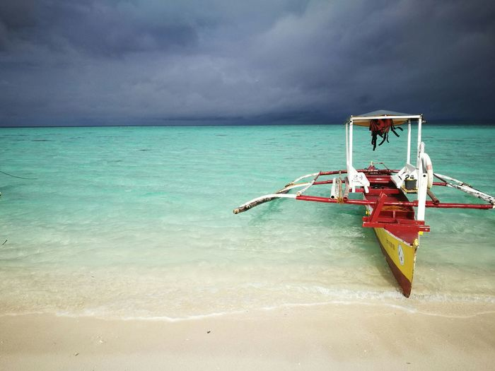 Beach, thunderstorm, rain, pristine, whitebeach, island, beautiful, philippines, amazing, love, boat, crystal, clear Sea Beach Travel Sand Water Vacations Summer Outdoors Cloud - Sky Nautical Vessel Horizon Over Water Sky No People Beauty In Nature Nature Day First Eyeem Photo