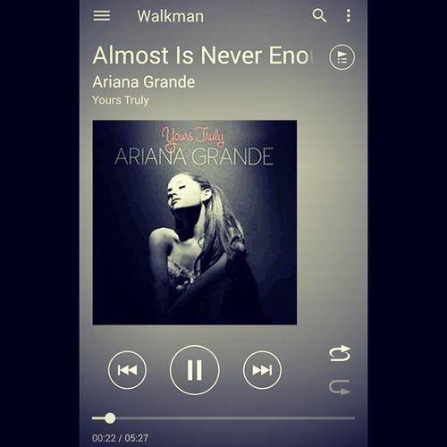 We almost knew what love was. But almost is never enough. ??? Nowplaying Arianagrande Almostisneverenough Hurt love senti music playlist playlistoftheday