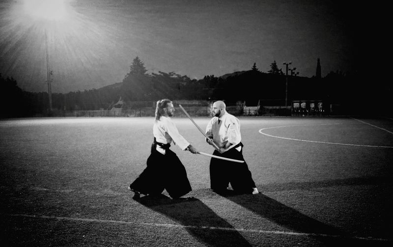 Bokken practice Aïkido AikidoDokokai Practice Bokken Training Alpedrete Madrid SPAIN Artes Marciales Martial Arts Martialarts Aikidolifestyle Flow  Enjoying Life Style Of Life Phonegraphy Huawei 43 Golden Moments Quick Workout Two Is Better Than One People And Places MonochromePhotography