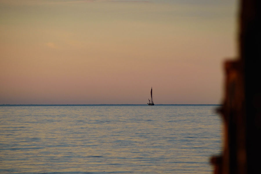 Beauty In Nature Greta II Sailboat Sea Sunset Thames Barge Tranquil Scene Tranquility Water Whitstable
