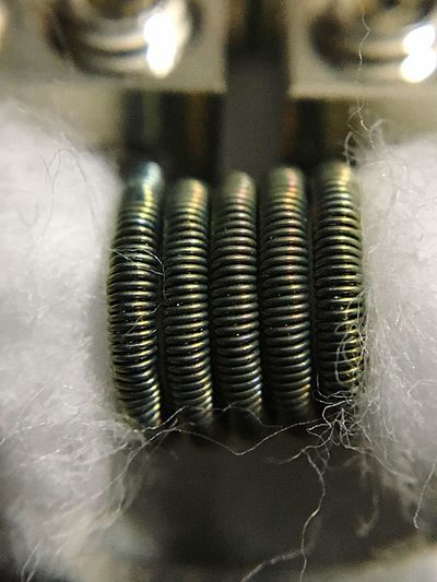 28g x3 twisted A1 wrapped with 36g ss316L Coils Coilporn Coilbuilder Coilarchitects Coilsmith Coilart