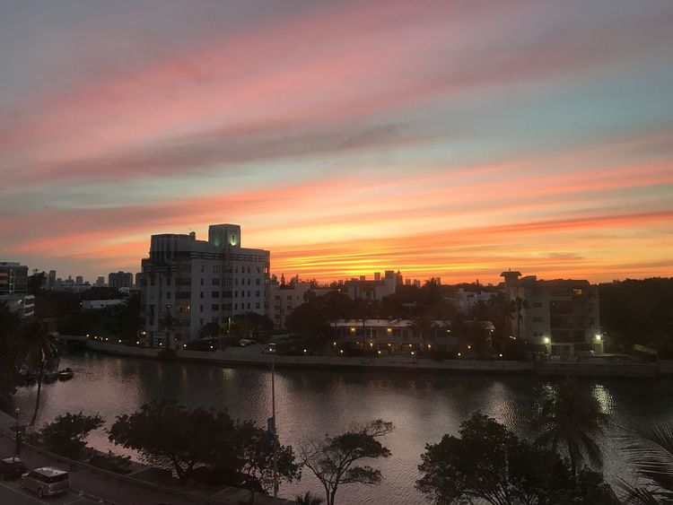 ThisView Colourful Loveit Sunset Miami Beach Sky