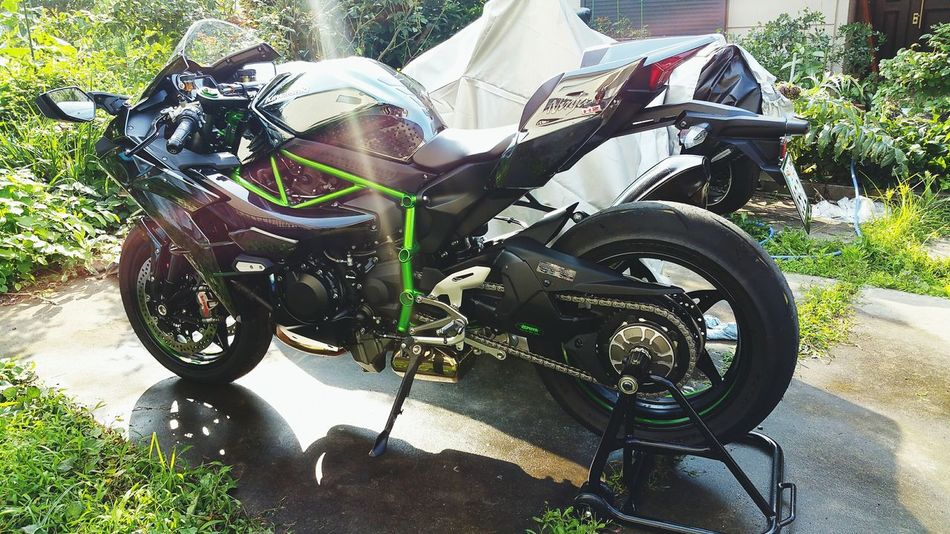 洗車🎵 あっついわあああ(T_T) Kawasaki Kawasaki Ninja バイク Bike Bikers