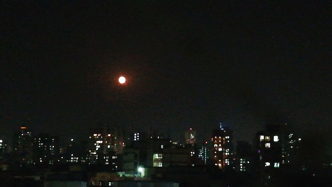 Full moon. View from my window. Night Low Angle View Outdoors Sky Celebration Illuminated Moon Large Group Of People Nature City People