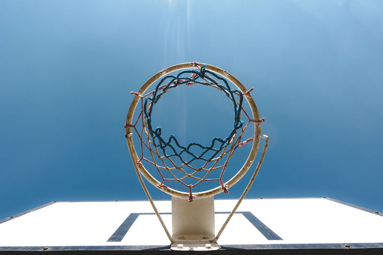 Still Life Exceptional Photographs EyeEm Best Shots Popular Photos Check This Out Hello World Basketball - Sport Basketball Hoop Net - Sports Equipment Sport Circle Blue No People Day Geometric Shape Nature Shape Sky Low Angle View Outdoors Directly Below Leisure Games Clear Sky Copy Space Sunlight Leisure Activity