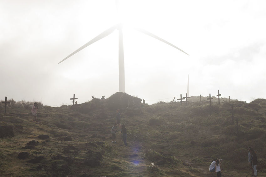 Burgos Windmills Burgos, Ilocos Norte December 28, 2016 Backlight Cinematic Cinematic Photography Day Nature Outdoors People Philippines Sky Wind Turbine