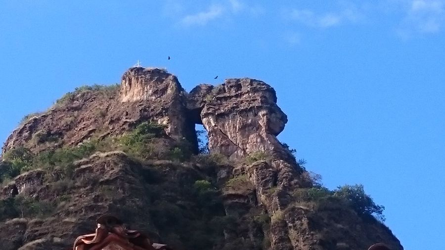 Puerta Del Cielo Tepoztlan Low Angle View Blue Sky No People Outdoors Day Nature Nature Rock Formations