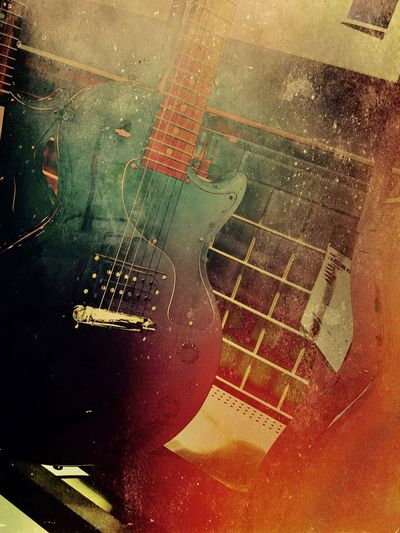 Guitar Guitar No People Road Indoors  Close-up City High Angle View Visual Creativity Musical Equipment String Instrument Musical Instrument Textured  Visual Creativity