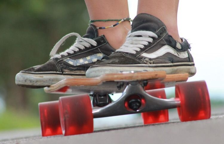 Longboard First Eyeem Photo Vans Off The Wall Street Hobbyphotography Canoneos1100D Feeling Good