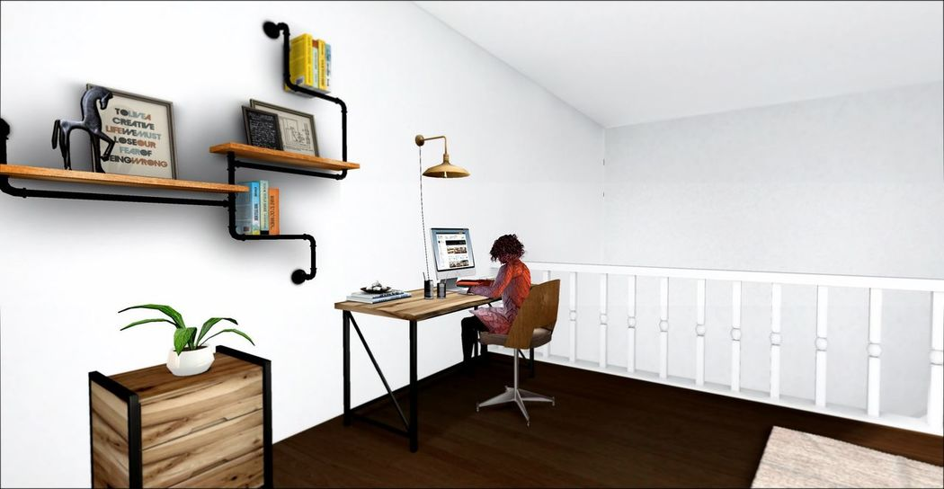 Bright Room Computer Desk Desktop Digital Art Freelance Life Freelancer Home Office Home Sweet Home Laptop Office Secondlife Secondlifeavatar Sunny Day White Room