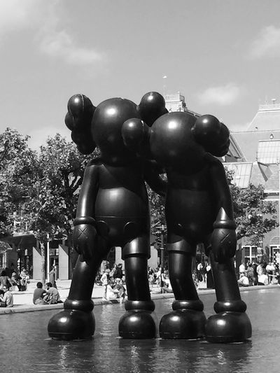 Check This Out Blackandwhite Amsterdam Sculpture Outdoor Sculpture