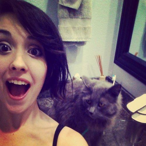 SELFIE WITH MUNSTER♡ Selfie Catselfie Iloveyou Kawaiiasfuck