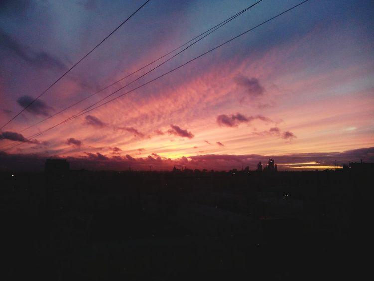 Люблю закаты Hello World закат🌇 Москва✨ болею... Скоро новый год