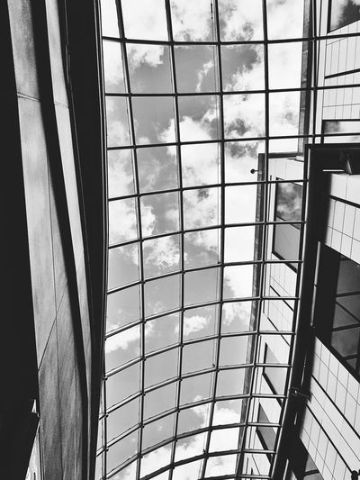 Abstract roof Day Indoors  Low Angle View No People Built Structure Sky Architecture Blackandwhite Black & White B&w City Architecture Art Is Everywhere Modern Building Exterior The Architect - 2017 EyeEm Awards