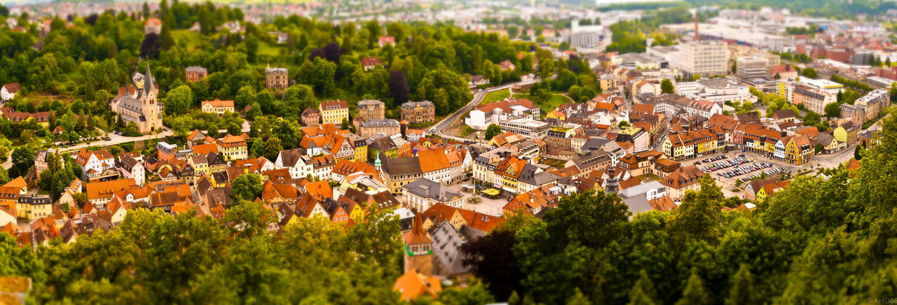 Kulmbach Tilt-Shift Architecture Residential District High Angle View City Roof No People Panoramic Town Cityscape TOWNSCAPE Green Color Building Panoramic View Tilt-shift Tiltshift