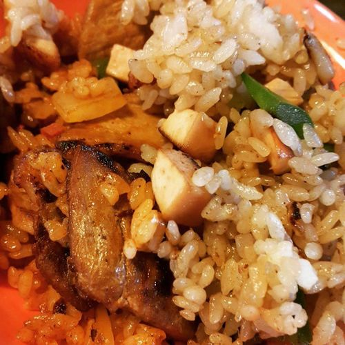 먹스타그램 닭가슴살필라프 고추장목살필라프 아침밥