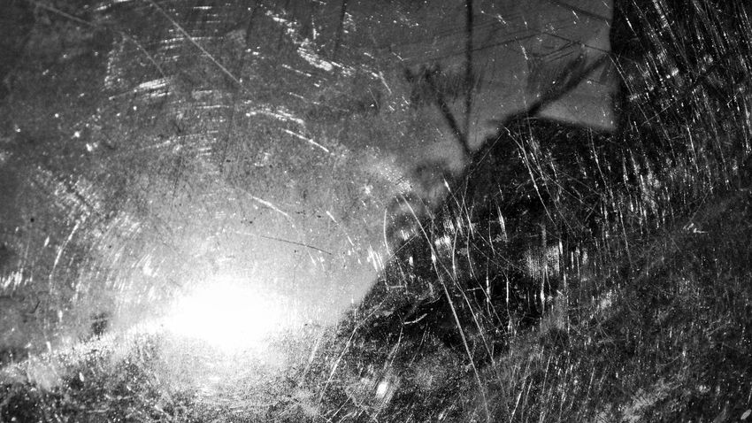 Night No People Low Angle View Backgrounds Outdoors Full Frame Nature Water Sky Close-up Black And White Photography Shattered Glass Reflections ☀