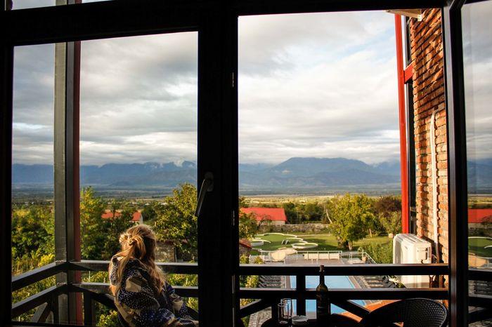 #Georgia #travelling #travelphotos #winery Lifestyles Looking Through Window Mountain One Person Window