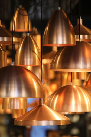 Shertogenbosch brass lamps Canon 70200F2.8 curves In A Row Group Of Objects Variation Choice Close-up Arrangement Large Group Of Objects Arranged Brown Abundance Selective Focus Order Retail Display Shelf Repetition Collection No People Freshness Extreme Close Up