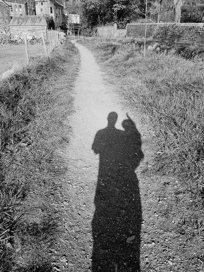 Shadow High Angle View Real People Focus On Shadow Day Sunlight Men Grass Childhood Togetherness Fatherandsonmoments