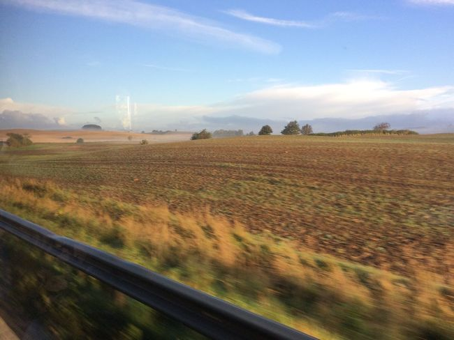 Train from Ystad to Denmark Landscape Beauty In Nature Field Sky Cloud - Sky Nature Grass Outdoors