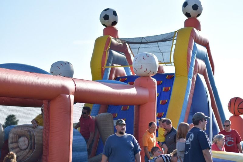 Day Childhood Outdoors Real People Leisure Activity Playing Happiness Sport Bounce House Obstacle Course BOUNCE