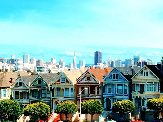 Painted Ladies! IPhoneography VSCO San Francisco Travel Cityscape Skyline Perspectives Spring California OpenEdit