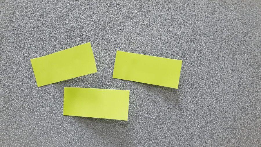 Close-up of adhesive notes