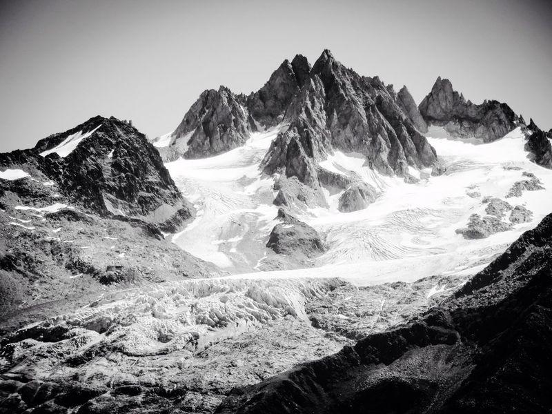 Glacier Glaciers Gletscher Argentiere Alpes France Haute-Savoie  Mountains Mountains And Sky Blackandwhite Black And White Blackandwhite Photography Contrast Aiguilles