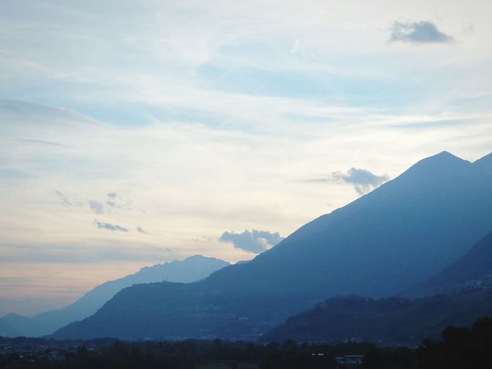 Valtellina Mountains AlpsComing Home On The Road Sunset Sunset Silhouettes Fujifilm