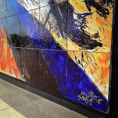 Color Explosion ...on the wall Muralin Rovinj made by famous Croatian painter Edo Murtic