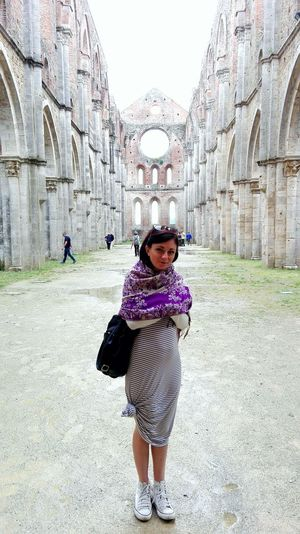 One Girl Only Looking At Camera Medieval Solitude Architecture Sangalgano Abbey Ruins Best Of EyeEm Discovertuscany Tuscany Tourism Famous Place Pictureoftheday History Legendary Ruins The Past Tuscanygram Magical Place Travel Destinations Photooftheday Abbey Scenics Magical Places Discoveritaly