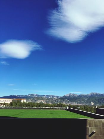 Sky Mountain Cloud - Sky Mountain Range Day Blue Landscape No People Nature Scenics Beauty In Nature Architecture Built Structure Outdoors Building Exterior Faculty Of Engineering