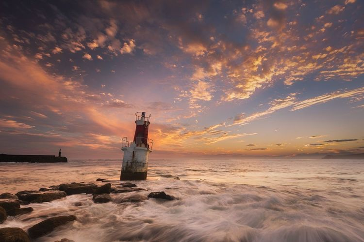 Litle Lighthouse Baliza Litle Lighthouse Nautical Nautical Vessel Fish Longexposure Port Clouds Rocks Wave Cantabria San Vicente De La Barquera Landscape Lighthouse Sunrise Seascape Sea Water Sky Sunset Ship Nature Nautical Vessel Scenics - Nature Beach Cloud - Sky Outdoors
