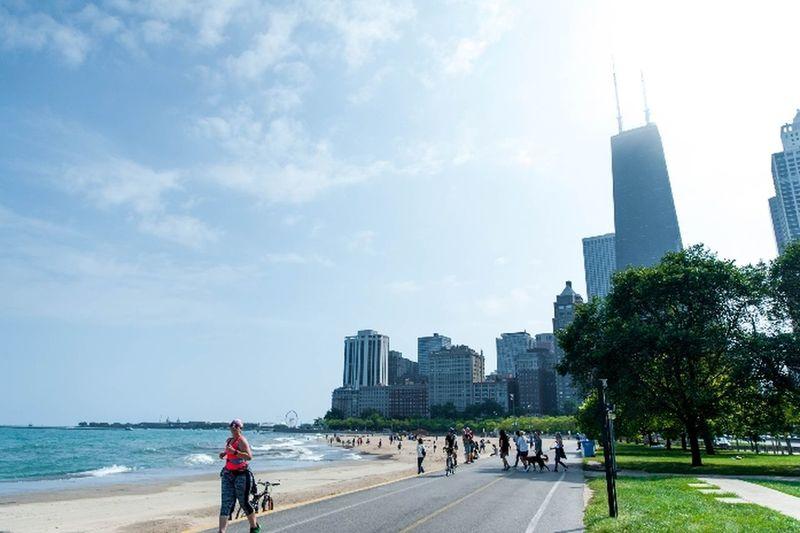 Chicago City Skyscraper City Sea Travel Destinations Sky Beach Water People Chicago Skyline Chicago Photographer Chicago Illinois Chicago ♥ Chicago Life